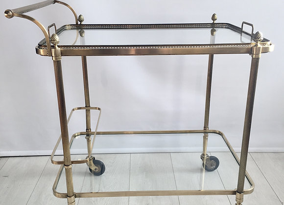 SOLD Maison Bagues French brass /bar cart
