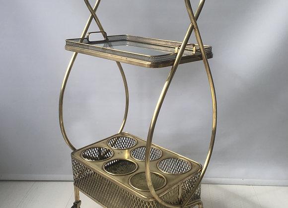 Petite vintage heart drinks trolley