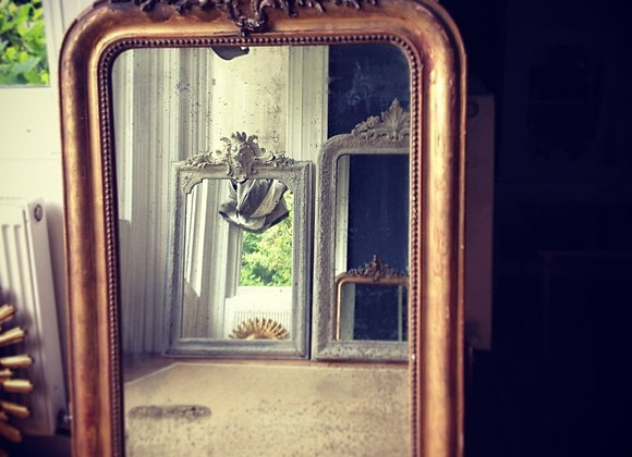 Antique French crested Gilt mirror - sold
