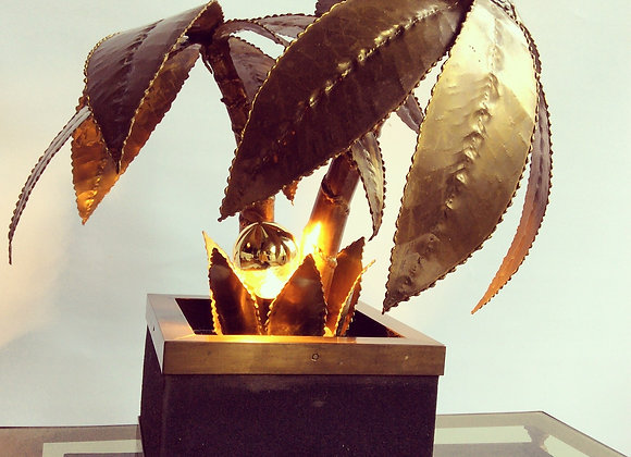 Brass palm table light - sold