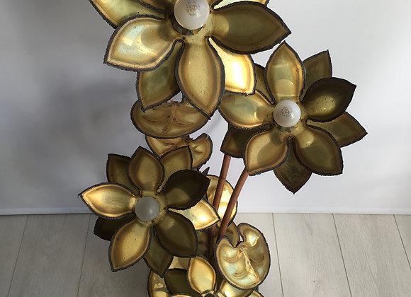 SOLD Maison Jansen lotus flower lamp