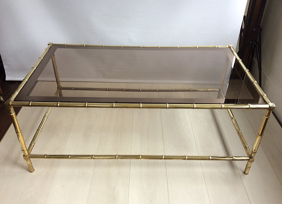 Bamboo brass coffee table - sold