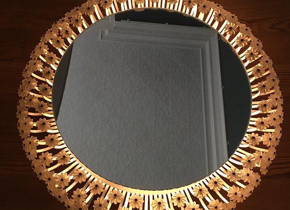 SOLD Floral backlit mirror/light by EMIL STEJNAR
