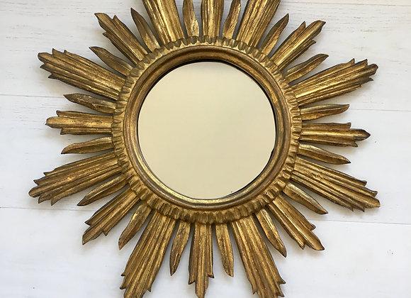 SOLD Vintage French sunburst mirror (ref 3335)