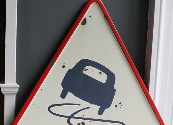 Vintage Collectable 1970`s French Road sign