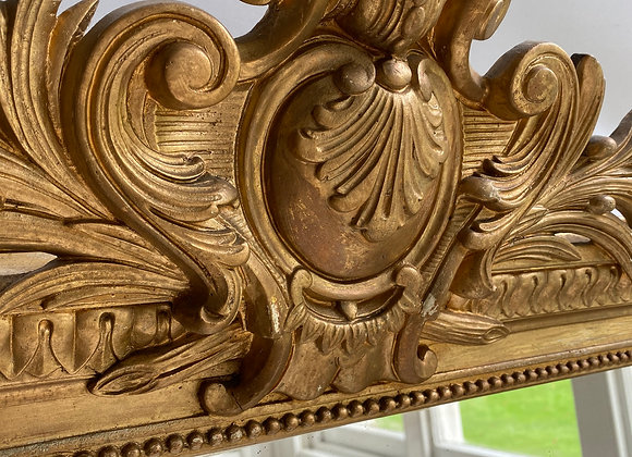 SOLD Large antique French gilt mirror