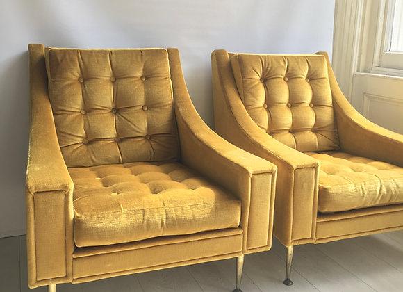 SOLD Pair of mid century Italian armchairs