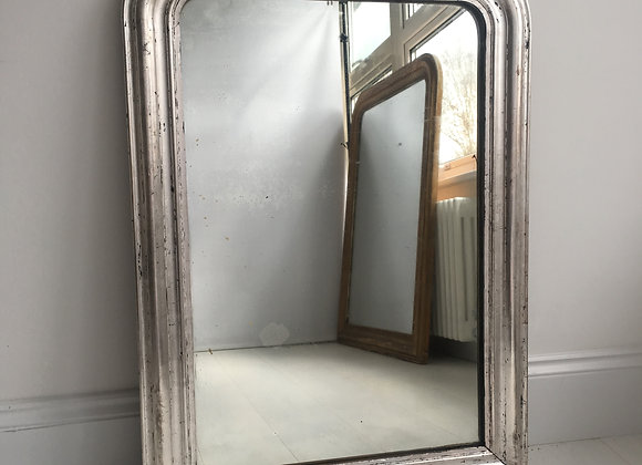 Antique Silver French arch Louis Philippe Mirror