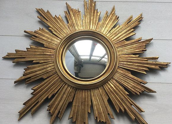 SOLD Belgium giltwood sunburst mirror