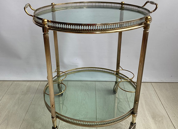 SOLD Vintage French circular round trolley ref 5555