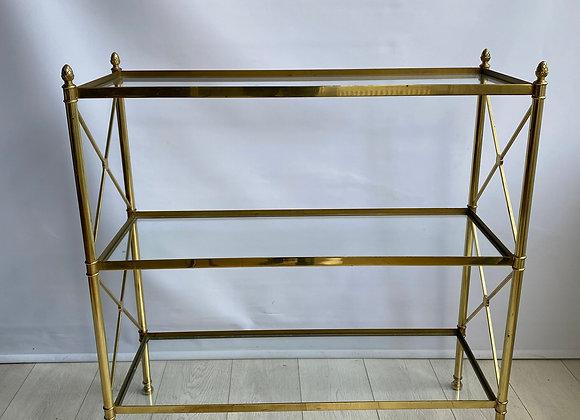 SOLD Vintage Italian brass etagere shelves