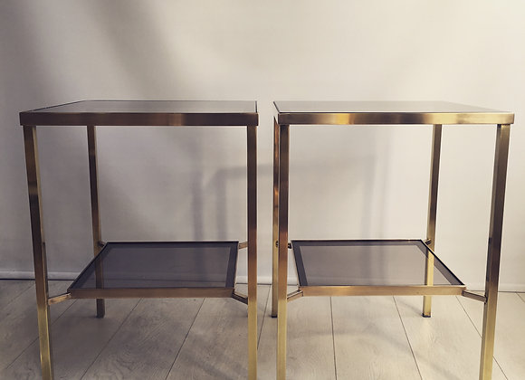 SOLD Pair of tall vintage side tables