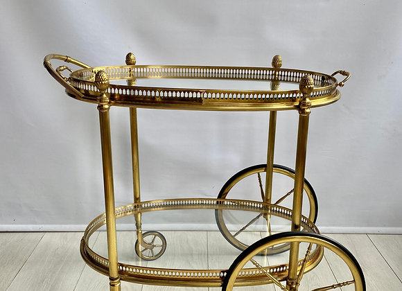 SOLD Maison Bagués style, French Brass Drinks trolley ref 2240