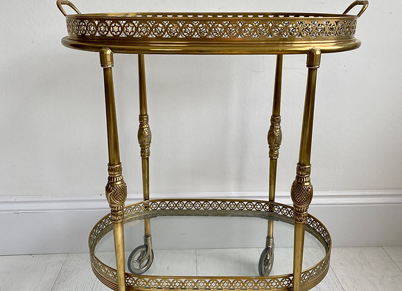 SOLD Vintage oval  star drinks trolley ref 2275