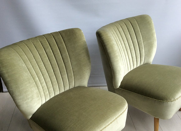 SOLD Pair of midcentury cocktail chairs