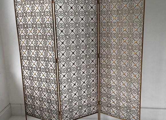 SOLD Ornate vintage room divider, screen