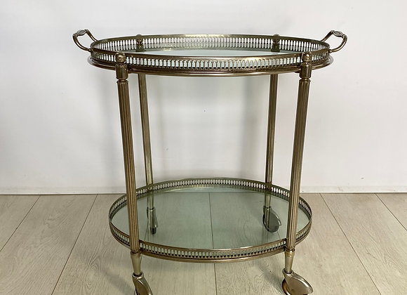 Vintage French silver drinks trolley ref 2400