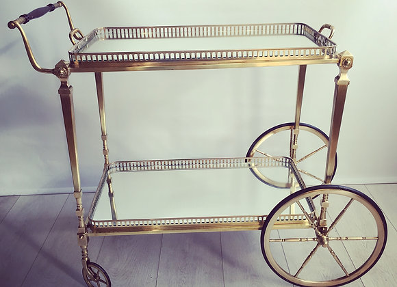 SOL D Vintage French rectangular drinks trolley