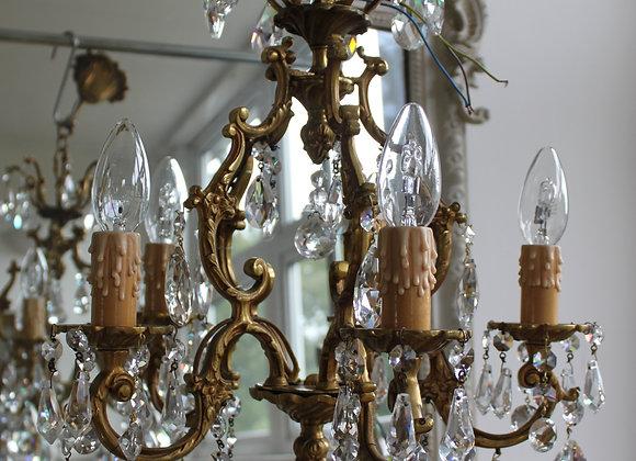 Heavy Brass French chandelier