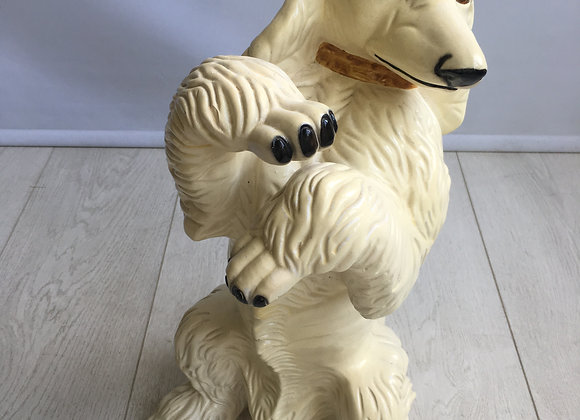 SOLD Vintage ceramic dancing poodle!