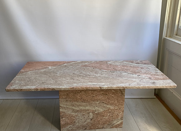 SOLD Vintage Italian pink marble coffee table