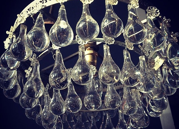 Original French Arctic pear/orb chandelier -sold