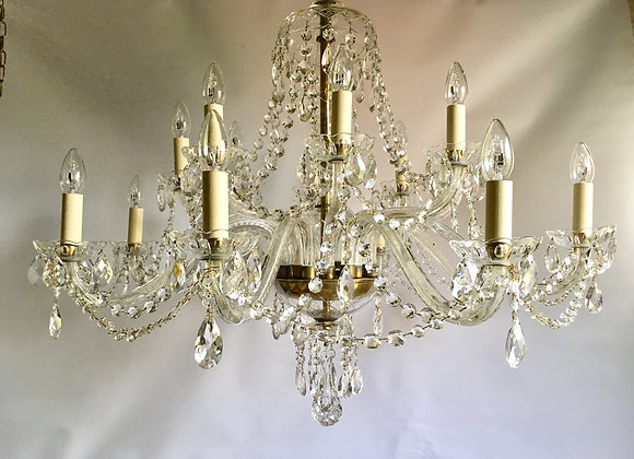 SOLD Beautiful Czech Bohemian 16 arm chandelier