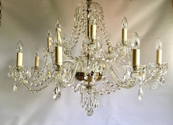 SOLD Beautiful Czech Bohemian 16 arm chandelier