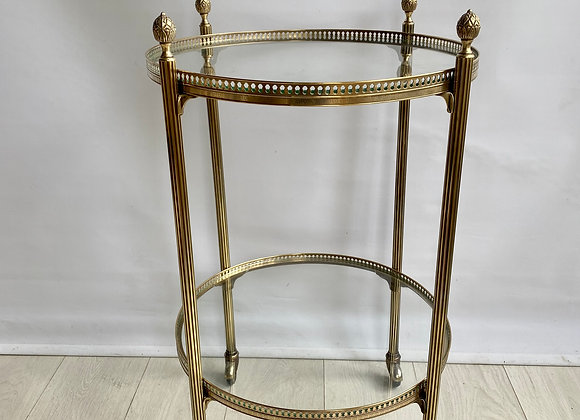 SOLD Vintage Italian round drinks trolley