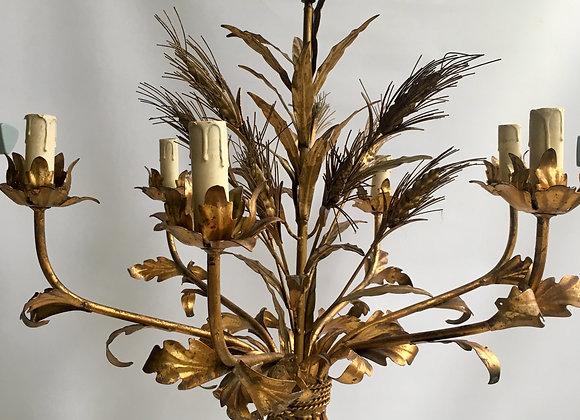 SOLD Vintage Italian wheatsheaf chandelier