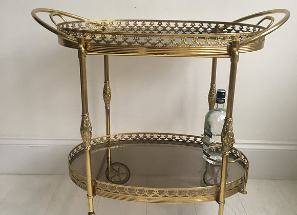 Decorative oval drinks trolley (ref 2090)