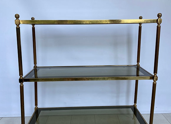 Vintage brass console table