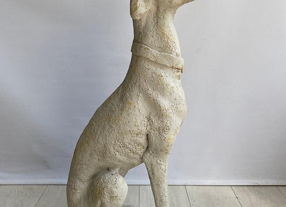 Vintage Stone greyhound statue