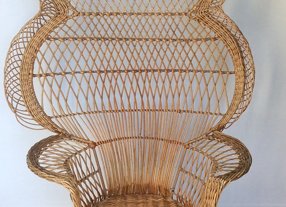 SOLD Iconic Rattan Peacock Chair, 1970s