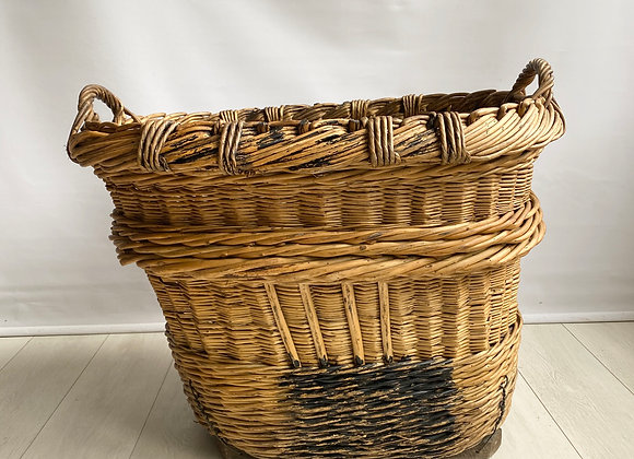 Large French Vineyard Champagne Wicker Basket
