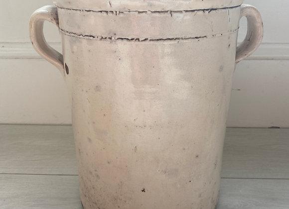 HOLD Large antique Italian confit pot