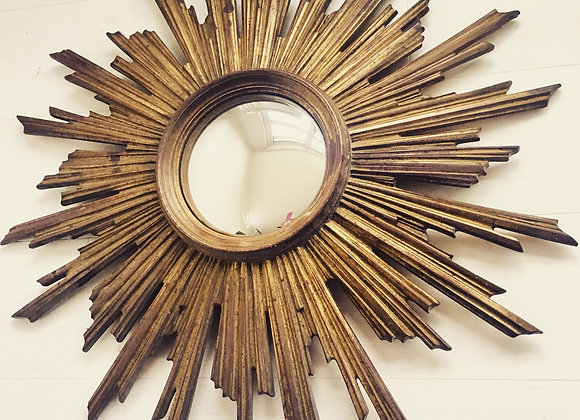 SOLD  Vintage French sunburst mirror (5555)