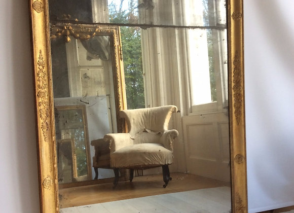 SOLD Beautiful Antique French gilt mirror