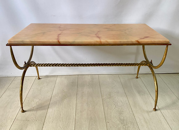 Vintage Italian marble coffee table ref 5140