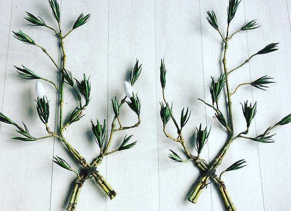 Bamboo sconce - sold