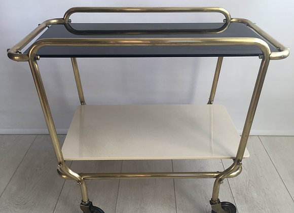 SOLD Mid century French drinks trolley