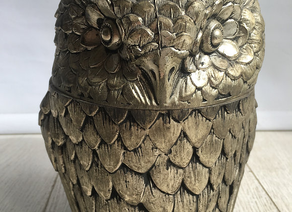 SOLD Mid century Owl Ice Bucket By Mauro Manetti