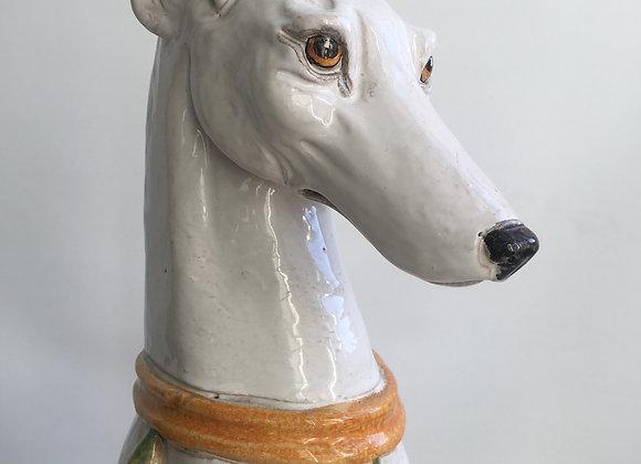 SOLD Vintage Italian ceramic dog greyhound whippet