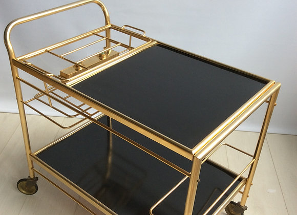 sold - Unusual vintage French drinks trolley