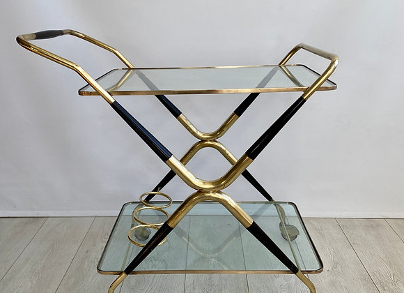 Midcentury Cesare Lacca drinks trolley bar cart