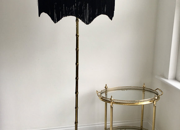 SOLD Vintage French brass bamboo lamp