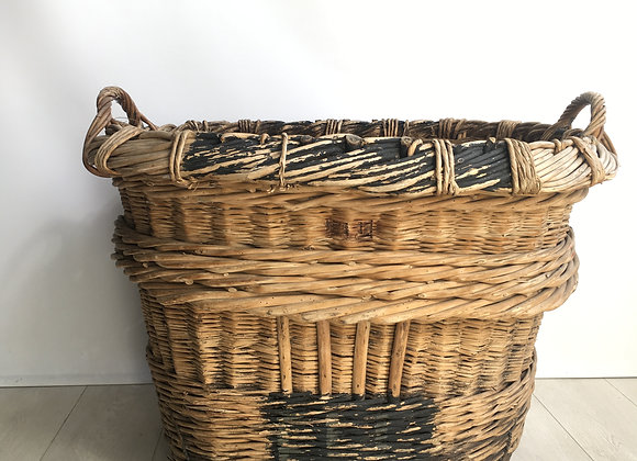 HOLD Large French Vineyard Champagne Wicker Basket