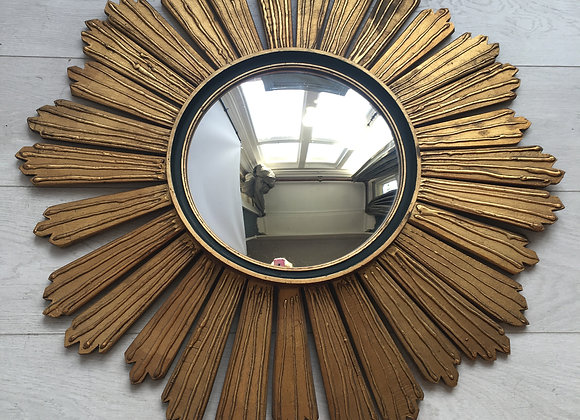SOLD Belgium sunburst convex  mirror