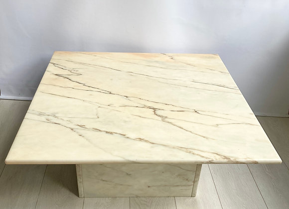 Vintage cream pink marble coffee table (ref 5130)