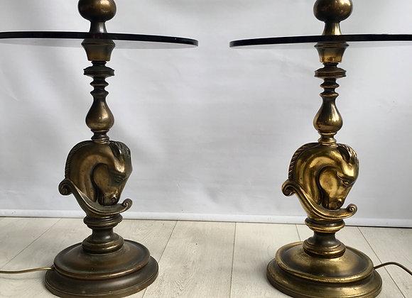 Maison Charles horse head standard lamp
